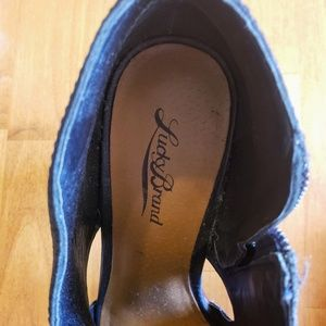 Lucky Brand Shoes - Lucky Brand Leather Wooden Platform Heels